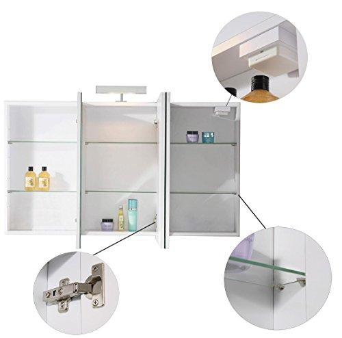 spiegelschrank 100 cm alibertschrank. Black Bedroom Furniture Sets. Home Design Ideas