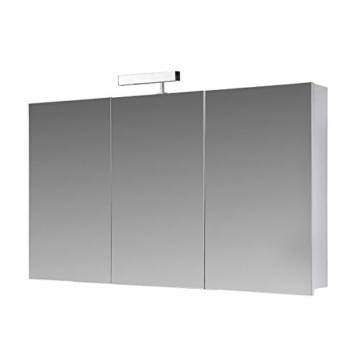 eurosan 3 t riger spiegelschrank halogenaufsatzleuchte breite 100 cm alibertschrank. Black Bedroom Furniture Sets. Home Design Ideas