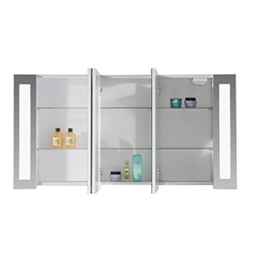 eurosan 3 t riger spiegelschrank integrierte led frontbeleuchtung breite 120 cm wei. Black Bedroom Furniture Sets. Home Design Ideas