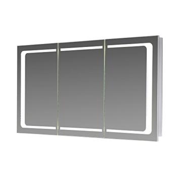 Spiegelschrank 100 Cm Breit Mit Beleuchtung | Eurosan 3 Turiger Spiegelschrank Integrierte Led Frontbeleuchtung