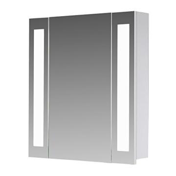 Top Eurosan Spiegelschrank, Integrierte LED-Frontbeleuchtung, Breite LW96